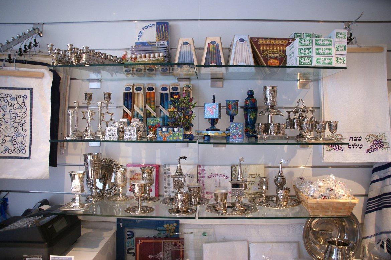Israel servetten, Shabbats artikelen, Kiddoes bekers, Menora kaarsen, Sabbats kaarsen
