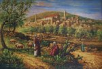 Originele Litho: Bijbels Hebron