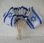 Israel vlaggetje met een houten stokje.