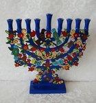 Chanukah Menorah (Chanoekia). Prachtig kunstwerk van Yair Emanuel.