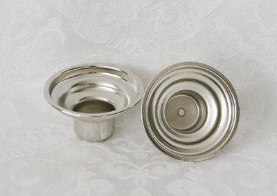 Cupjes van nikkel voor kaarsen en waxinelichtjes