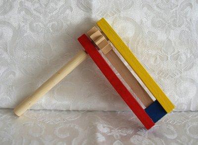 Purim Ratel Large, kleurrijk en van hout