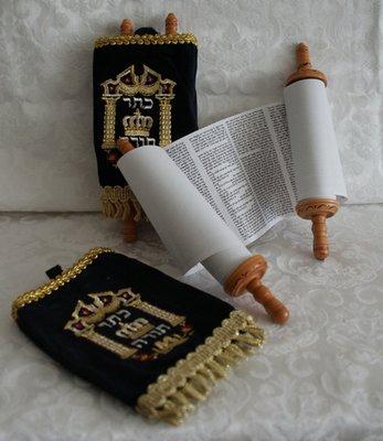 Torah rol klein, donkerblauw