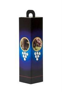 Stevige Wijn Cadeauverpakking voor elke gelegenheid in Zwart/Blauw met foto decoratie van Druiven en Wijn