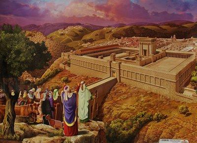 Poster uit Israel: Tempel in Jeruzalem.