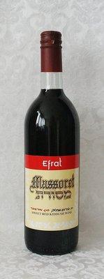 Efrat Massoret (kosher) zoete rode Kiddush wijn