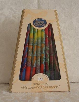 Chanukah kaarsen (kosher) in mooie warme kleuren