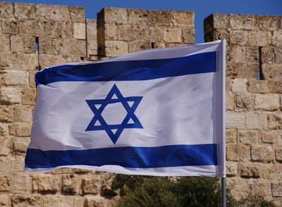 Israël vlag klein, 90 x 60 cm