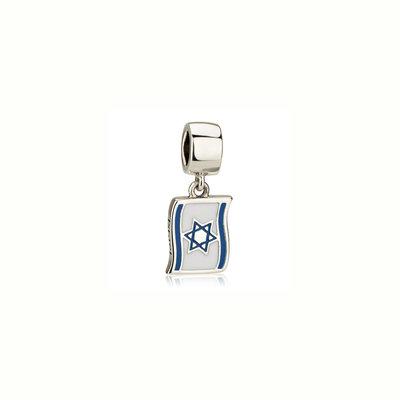 Hangend Israelvlag Bedeltje van zilver