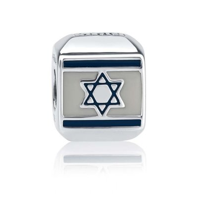 Zilveren Bedeltje met Israelvlag