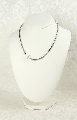 Zilveren Ketting voor Bedels met veiligheidsslotje verkrijgbaar in verschillende maten