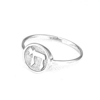Ring zilver met een Chai (=Leven) van Ben Sadya.