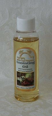 Zalfolie uit Israël met de geur van Myrre, Wierook en Nardus in een medium flesje van 50ml