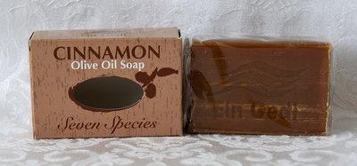 Handgemaakte olijfolie zeep uit de serie Ein Gedi 7 vruchten van het Land met de geur Kaneel