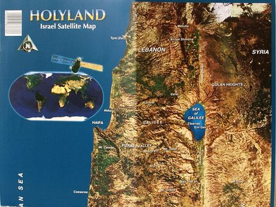 Sateliet / Wegenkaart van Israël
