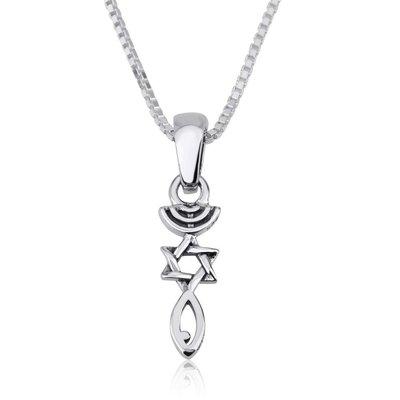 Messiaans Zegel hangertje zilver, lief klein ontwerp van Marina bijpassend bij de bedelarmband van dezelfde ontwerpster