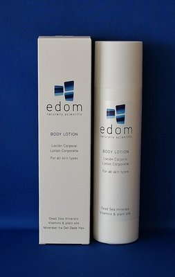 Edom bodylotion met Dode Zee mineralen. Fles van 250 ml.