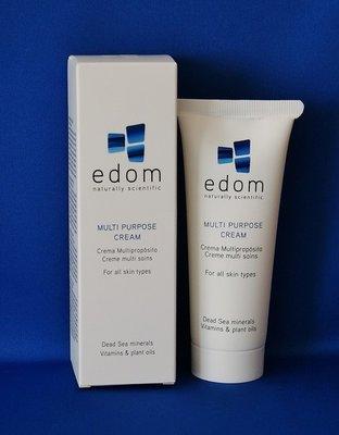 Edom creme voor alle doeleinden met Dode Zee mineralen voor gezicht en lichaam. Tube van 100 gram.