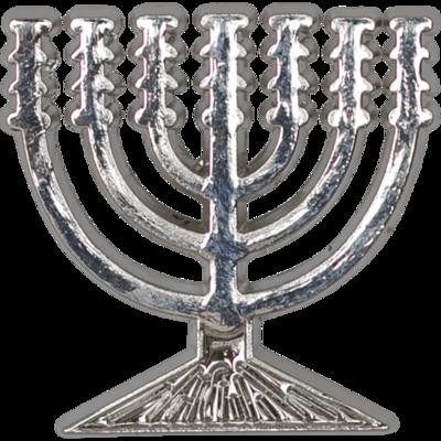 Reversspeld / broche met de Menorah / Menora in zilverkleur
