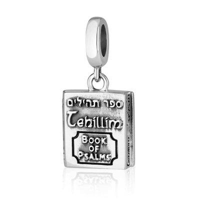 Zilveren bedeltje in de vorm van een Psalmboekje waar u zelf iets in kunt stoppen