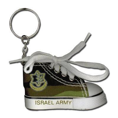 Sleutelhanger Sneaker met decoratie van het Israelische leger, de IDF