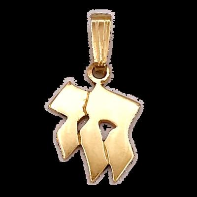 Chai (Leven) hangertje, bijzonder 14K gouden Chai glanzend hangertje uit de Rafael Jewelry collectie