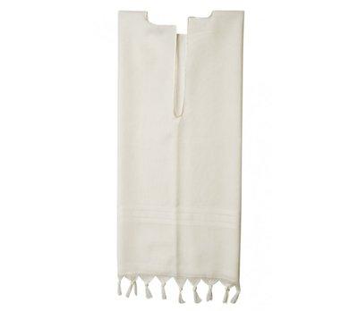 Tallit katan (kleine Tallit) van 100% wol met tzitzit (gebedskwastjes) met of zonder blauwe draad om onder de kleding te dragen