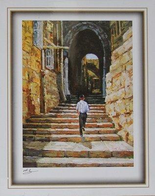 Reproductie: Jonge Joodse man in de Oude Stad Jeruzalem