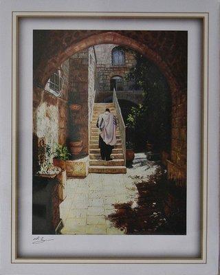 Reproductie: Binnenplaats in de Oude Stad Jeruzalem