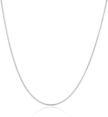 Collier / Ketting, zilveren slangketting / slangenketting van 1,4 mm breed leverbaar in verschillende lengtes