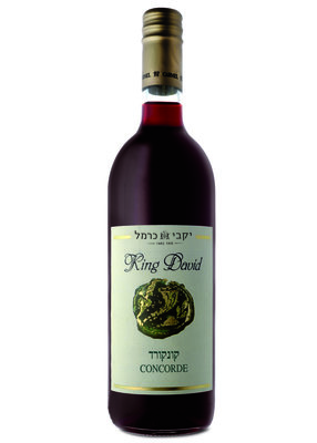 King David Concorde (kosher), zoete rode Kiddush / Avondmaalswijn van de Carmel Winery uit Israel