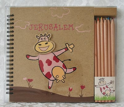 Tekenset voor kinderen met grappige afbeelding en Jeruzalem