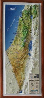 Relief kaart van het land Israel