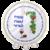 Pesach set van wit satijn met kleurrijke print van druiventrossen en wijn en Hebreeuwse teksten die met Pesach te maken hebben