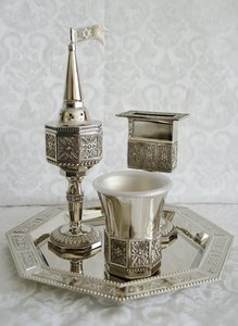 Havdalah Set met achthoekige schotel.
