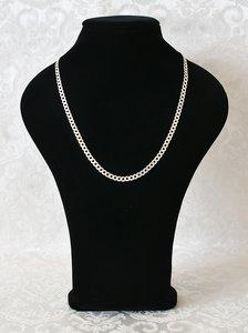 Zilveren Ketting met grote schakels, bijzonder geschikt voor heren