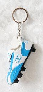 Sleutelhanger voetbalschoen met decoratie van de Israelische vlag