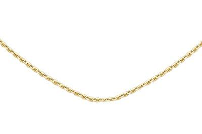 Ketting 14K goud 50cm, 1,3mm Anker schakeltjes