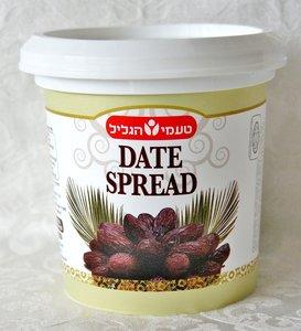 Dadel spread, een heerlijke spread van Dadels uit Israel voor op uw matzes (kosher voor Pesach) pot van 450 gram