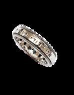 Zilveren 'Spinning' Ring van Marina uit Israel, 5mm breed met de Hebreeuwse Bijbeltekst: 'Ani ledodi wedod