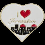Reversspeld in hartvorm met: I love Jerusalem