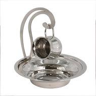 Maim Achronim set, eenvoudig maar leuk setje voor de rituele handwassing van vernikkeld metaal