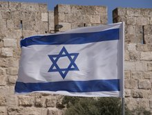 Israel vlag extra groot!