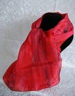 Puur zijden sjaal uit Israel wijnrode