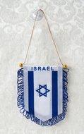 Israel vlag als (raam)hanger met zuignap