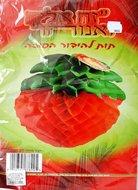 Aardbei rood voor de Loofhut, groot formaat. Uitgevouwen met blad ongeveer 50 cm hoog