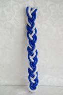 Havdalah kaars, blauw / wit