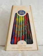 Chanukah kaarsen (kosjer) in mooie warme kleuren