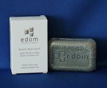 Edom zacht reinigende modder zeep samengesteld uit Dode Zee mineralen en olijfolie. 100 gram.