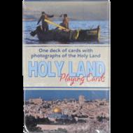 Speelkaarten met foto's van allerlei plaatsen in Israël, 1 compleet spel kaarten